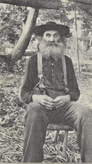 Sam Burchfield Veteran Moonshiner of the Appalachians Circa 1910