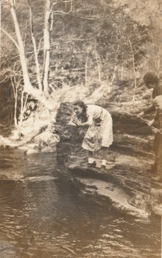 Swimming Hole Dive circa 1920 Possibly Clinton Tennessee